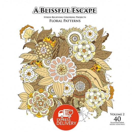 بلسفل إسكيب: كتاب تلوين للإسترخاء أشكال الزهور (مجلد ٢)