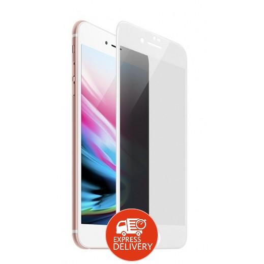 هوكو - حماية شاشة زجاجي لآي فون 7 / 8 بلس – ابيض