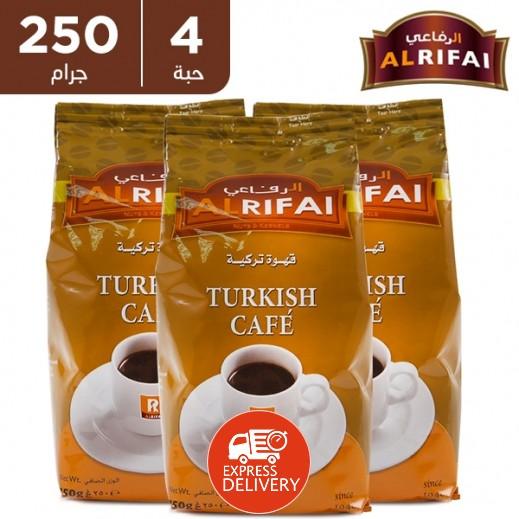 الرفاعي - قهوة تركية 250 جم × 4 حبة - عرض التوفير