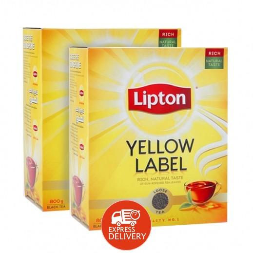 ليبتون – شاي العلامة الصفراء 800 جم ( 2 حبة ) - عرض التوفير