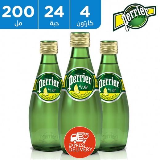 بيريه – مياه معدنية طبيعية بطعم الليمون الاصفر 200 مل (4 × 6)