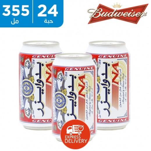بدوايزر - شراب الشعير الخالي من الكحول 24 × 355 مل