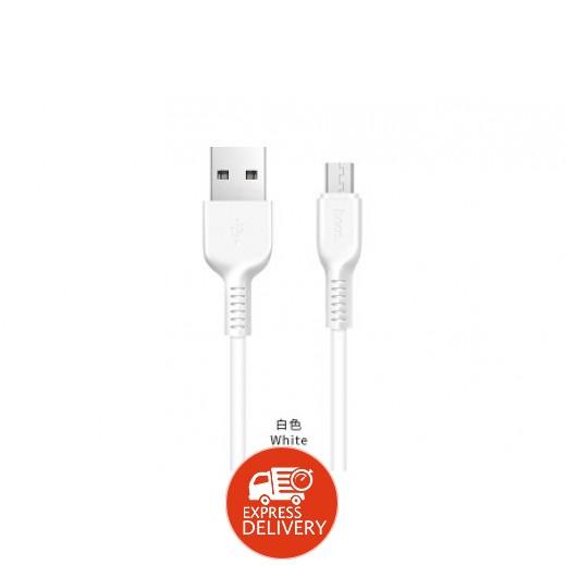 هوكو – كيبل Micro USB بطول 3 م – ابيض