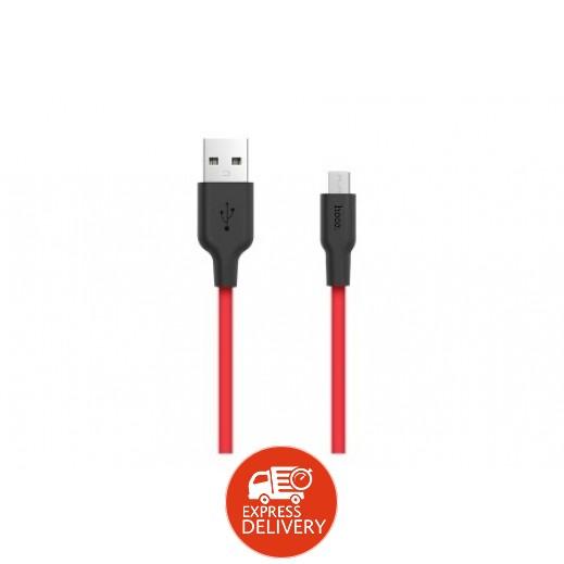 هوكو –كيبل مايكرو USB بطول 1 م – احمر