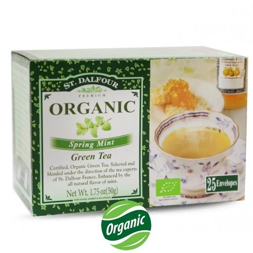 سان دالفور – شاي النعناع الربيعي العضوي 25 كيس × 2 جم